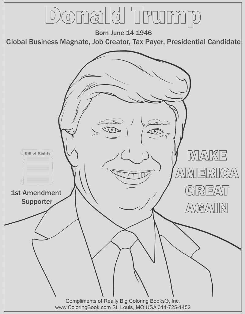 donald trump coloring page