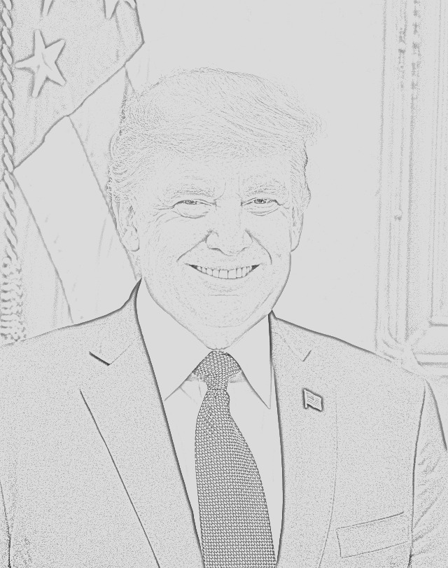 president trump coloring pages free and