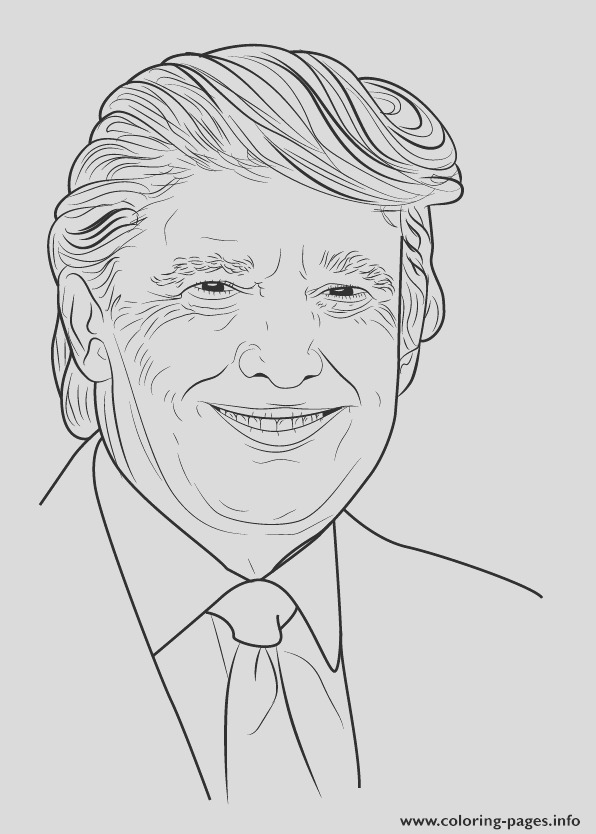 how to draw donald trump step 0 printable coloring pages book