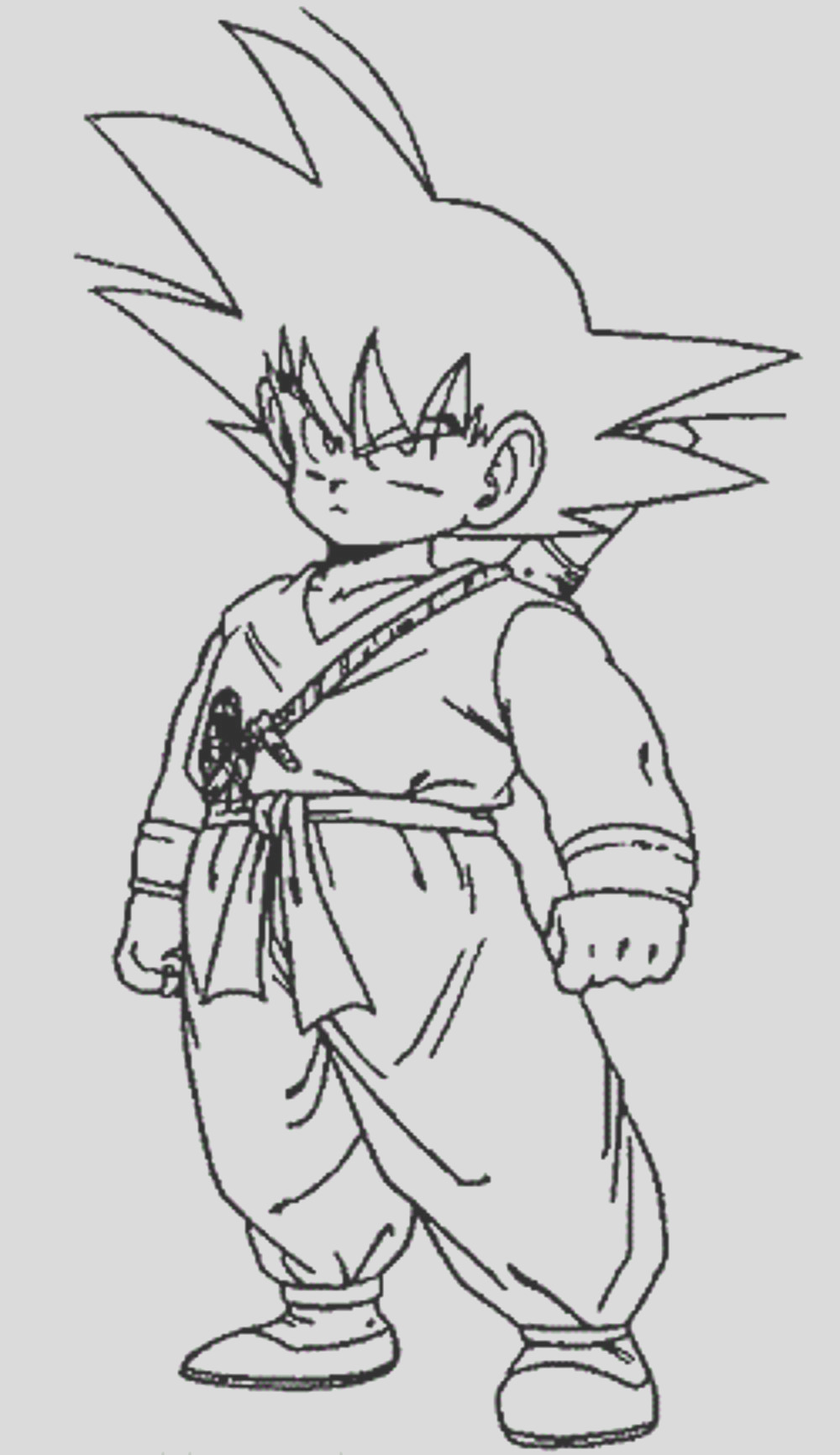 dragon ball z coloring pages little goku