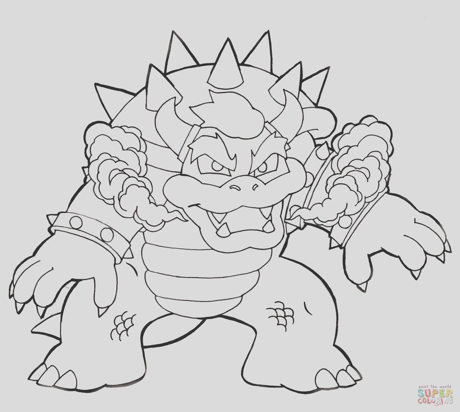 dry bowser coloring page