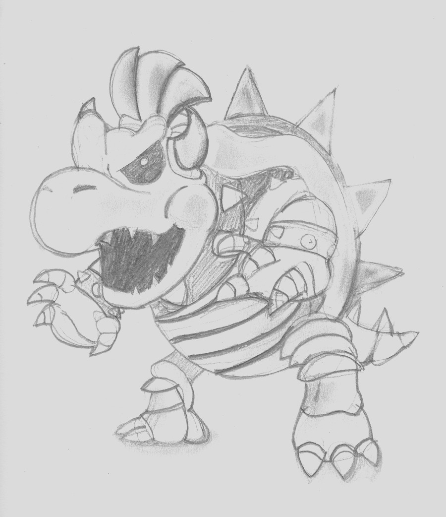 coloring page of bowser junior