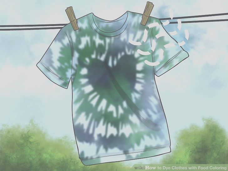 Dye Clothes with Food Coloring