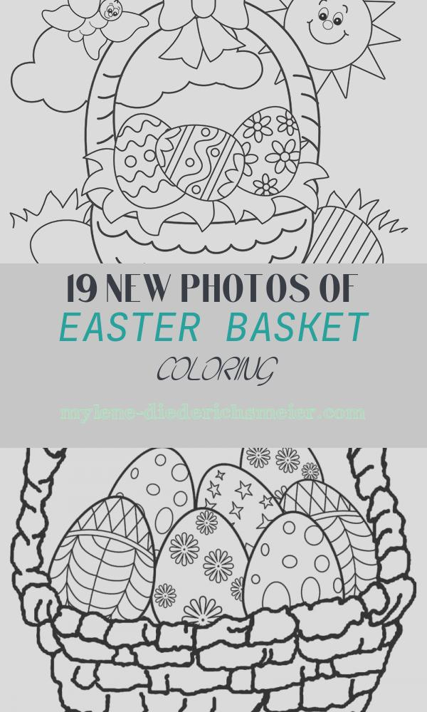 Easter Basket Coloring Unique Free Easter Colouring Pages – the organised Housewife