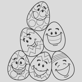easter colouring pages