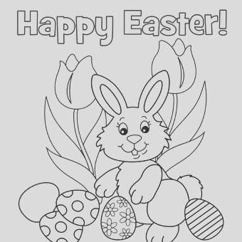 printable easter coloring pages say happy easter kids