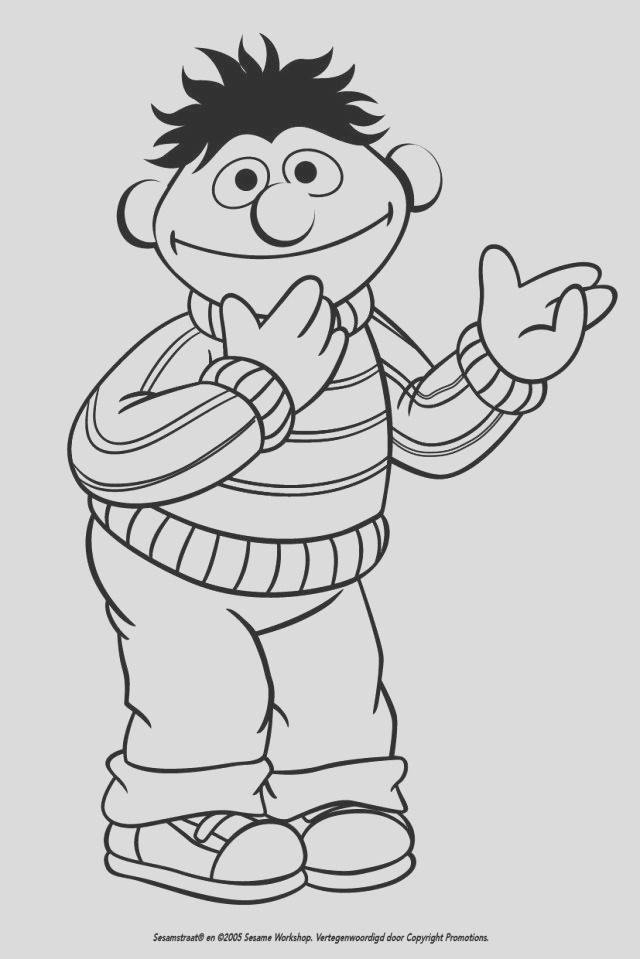 sesame street bert and ernie coloring pages