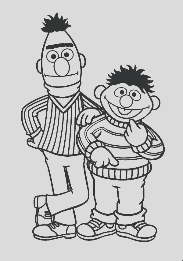 ernie and bert coloring pages