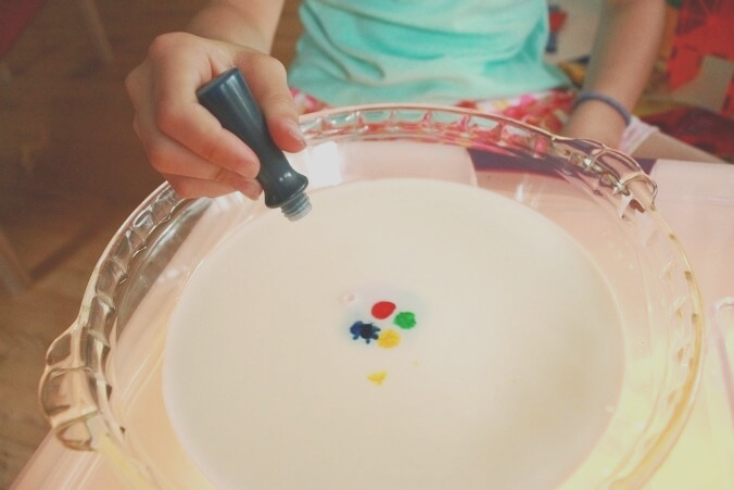 awesome rainbow milk science experiment