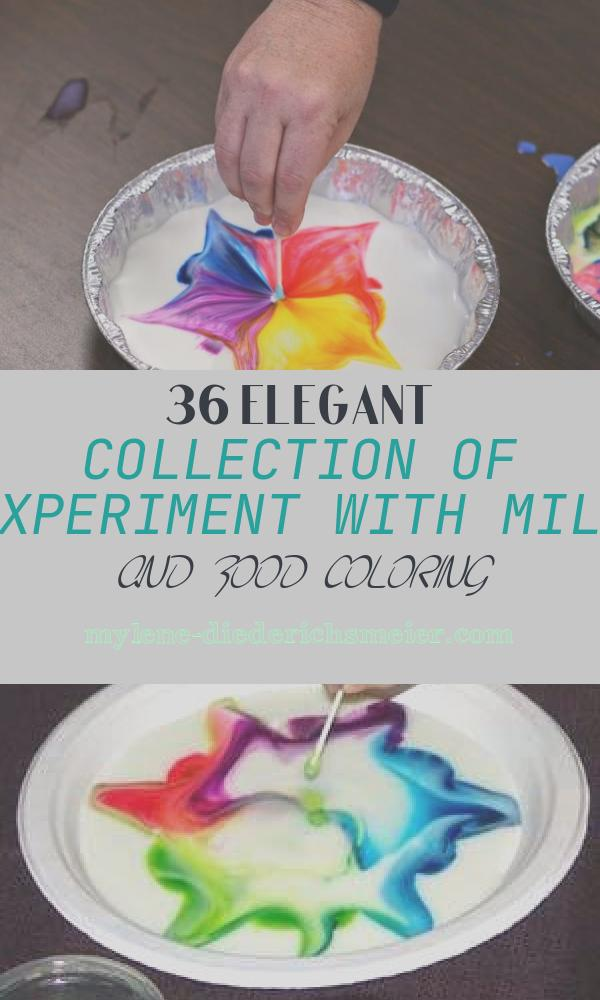 Experiment with Milk and Food Coloring Lovely Milk and Food Coloring