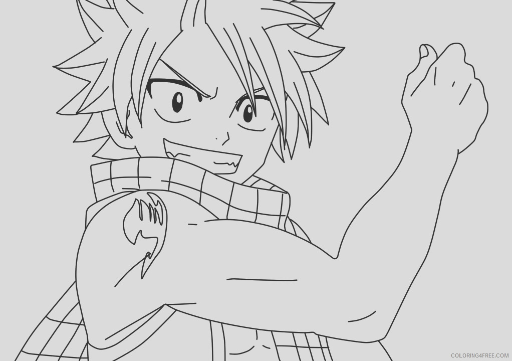 natsu fairy tail coloring pages coloring4free