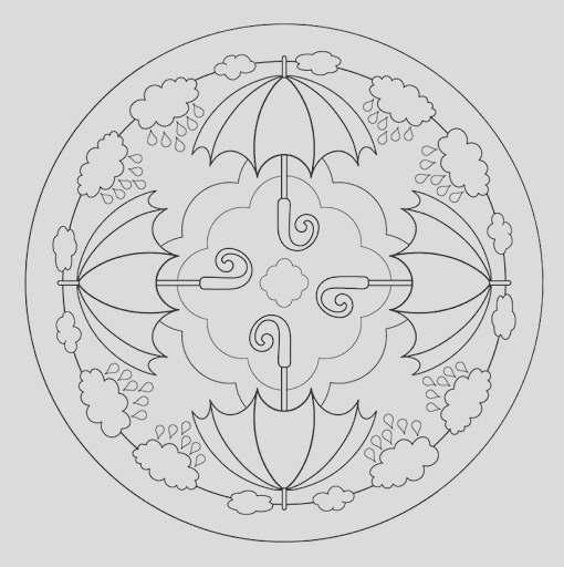 autumn mandala coloring page for kids