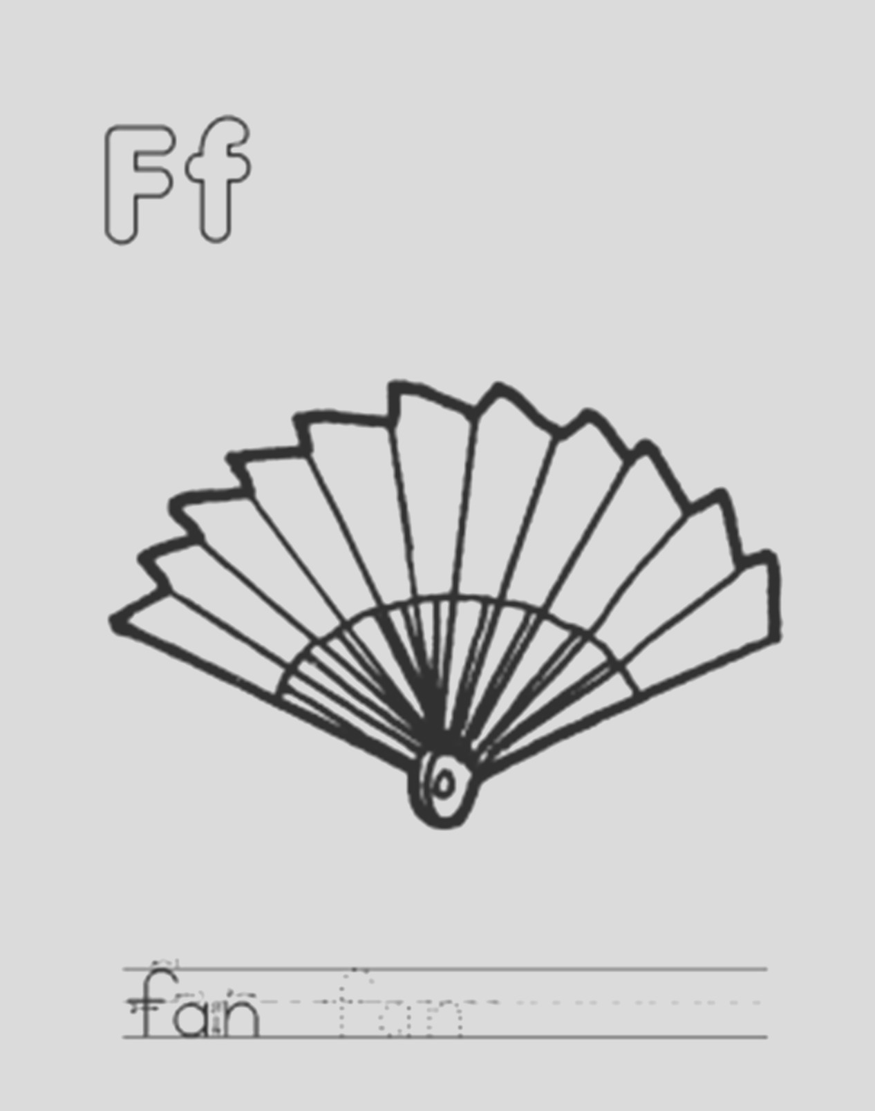 fan coloring page