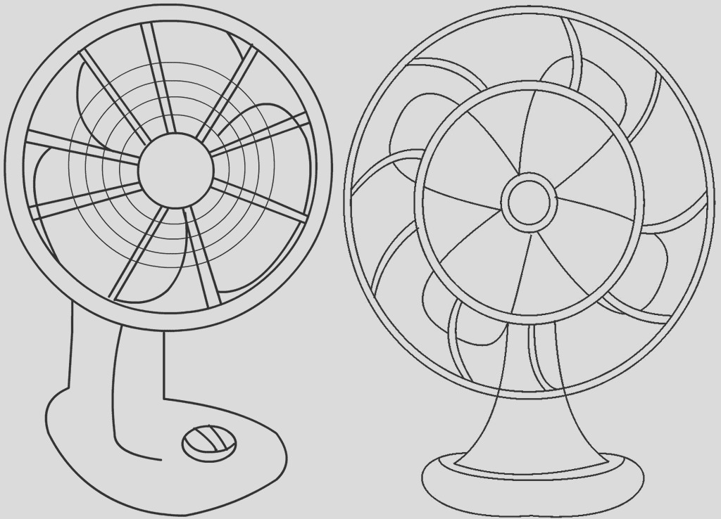 original clipart and cartoon fan coloring pages for children
