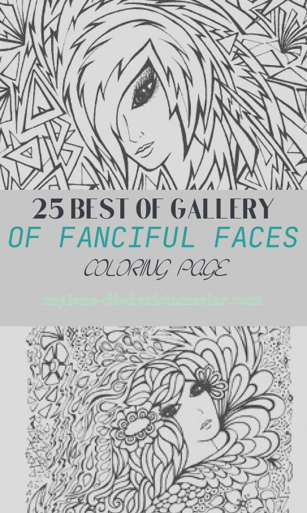 Fanciful Faces Coloring Page Lovely Creative Haven Fanciful Faces Coloring Book