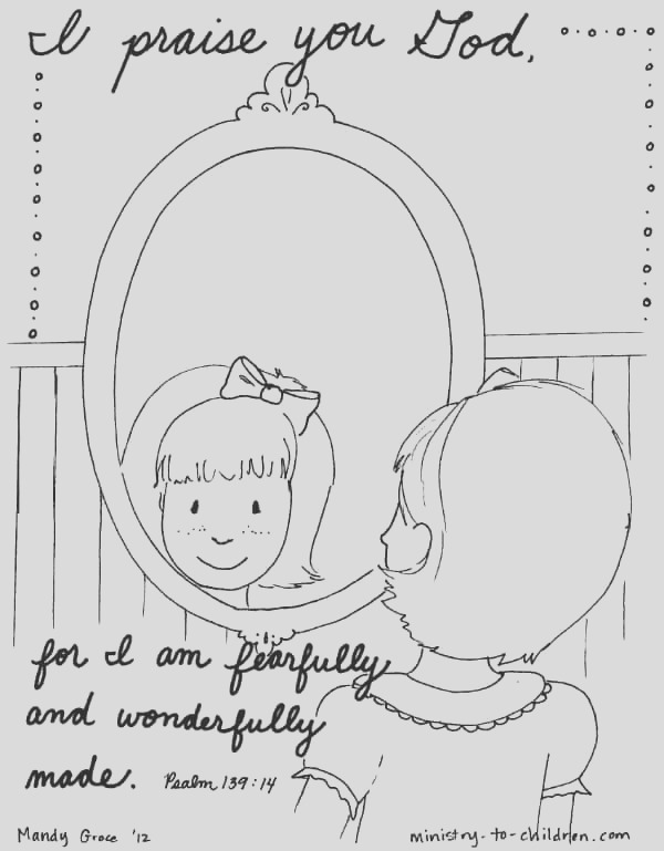 psalm coloring page