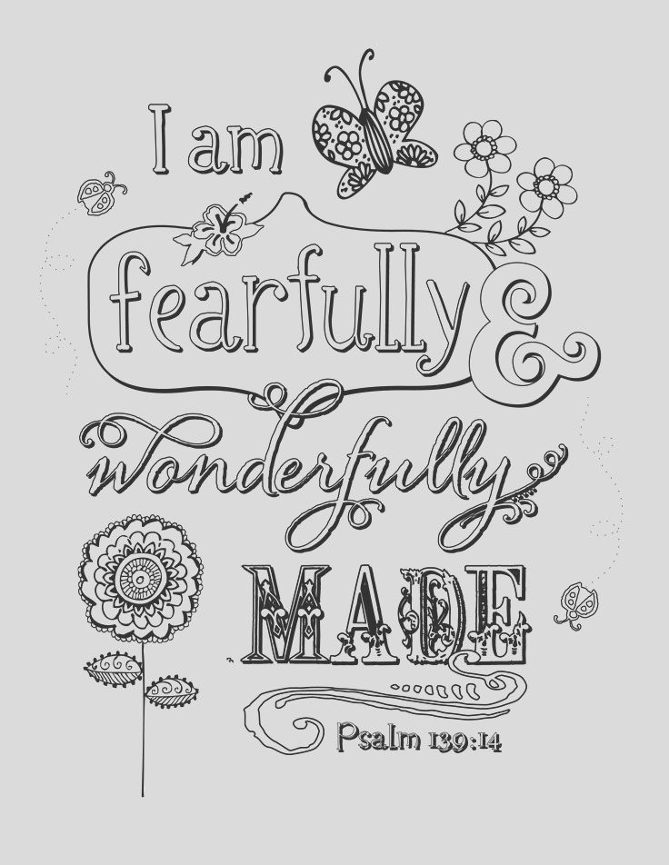 psalm 139 14 coloring pages sketch templates