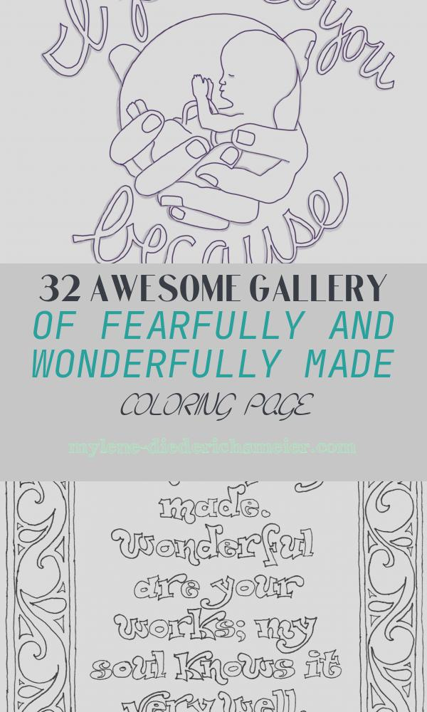 Fearfully and Wonderfully Made Coloring Page Fresh Fearfully and Wonderfully Made – From Victory Road