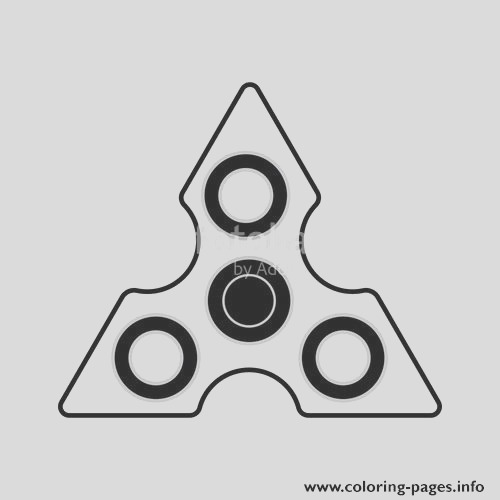 fid spinner triangle printable coloring pages book