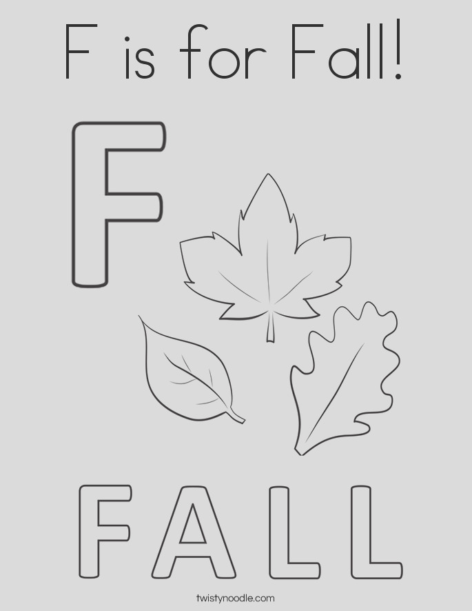 f is for fall 58 coloring page