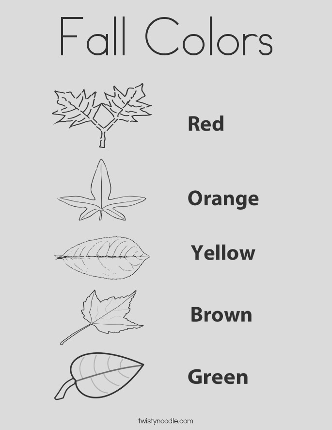 fall colors 3 coloring page