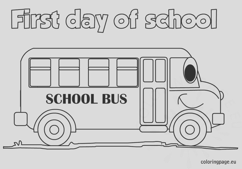 the first day of school coloring page