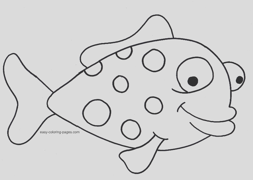 fish drawing for colouring