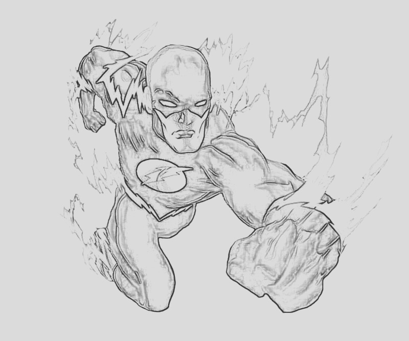 superhero flash coloring pages