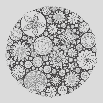 flower design for coloring book for grown up an adult coloring book floral drawing gm