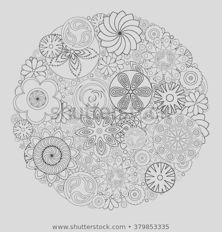 stock vector flower design for coloring book for grown up an adult coloring book floral drawing for stress