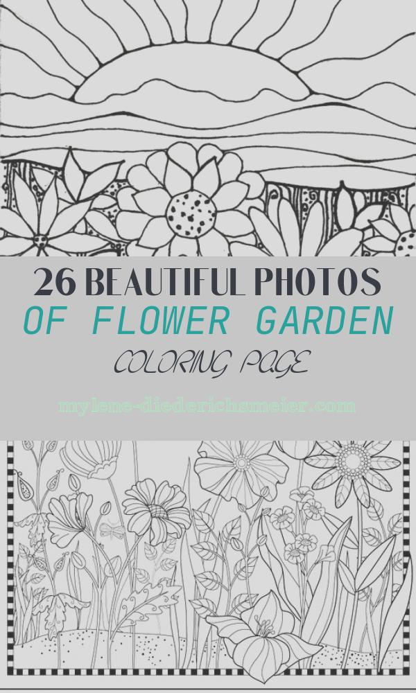 Flower Garden Coloring Page Awesome Gardening Coloring Pages to and Print for Free