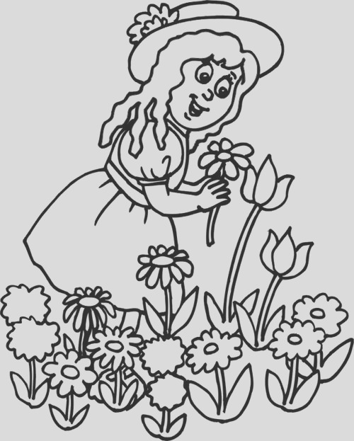garden flower colouring pages for