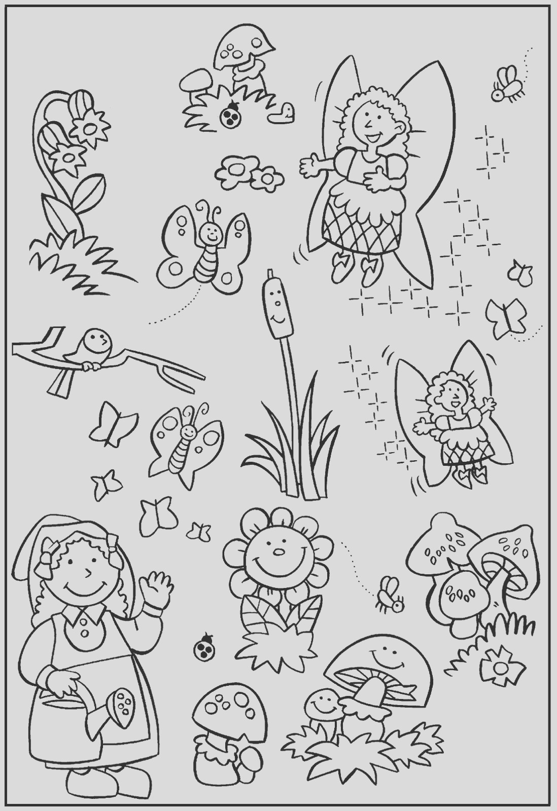 anna and flower garden coloring pages