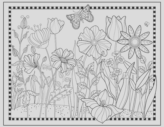 printable flower garden coloring