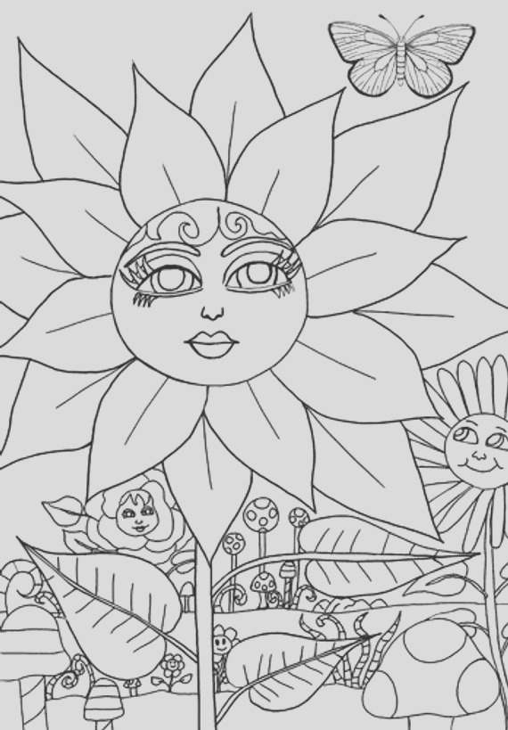 flower magical garden coloring page