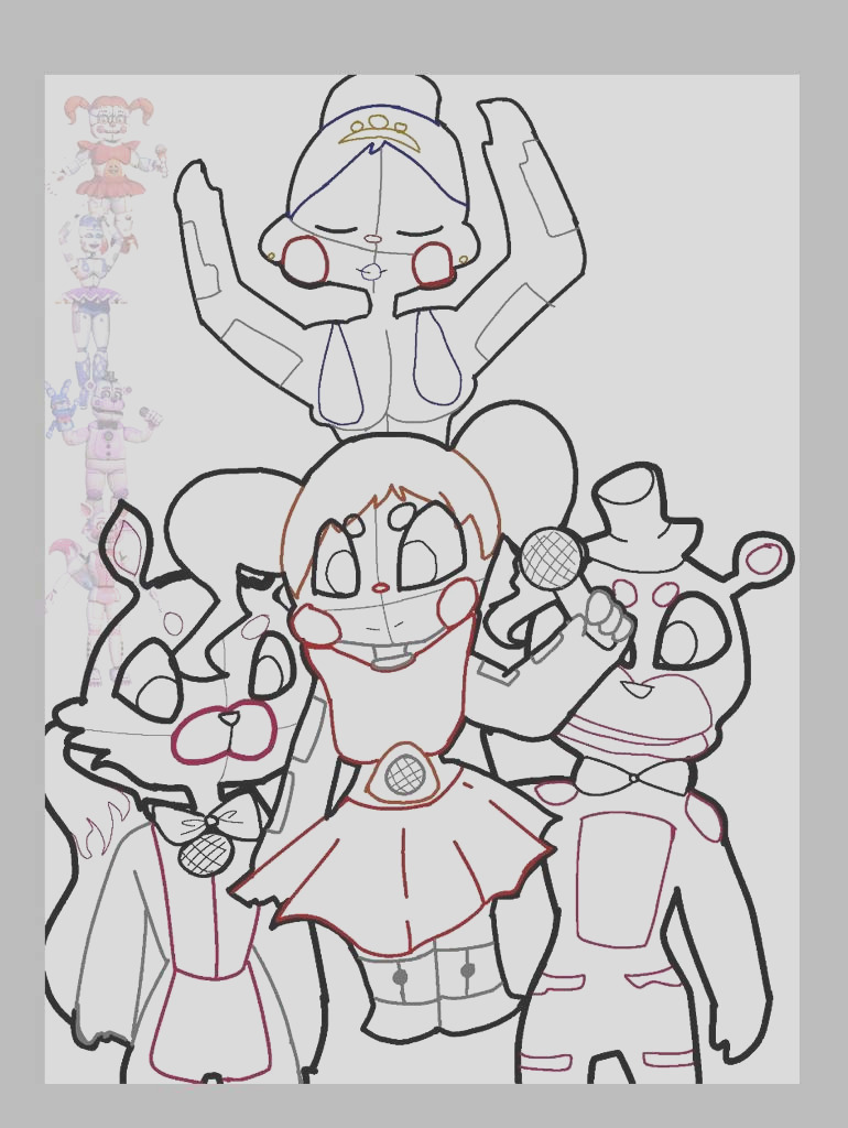 coloring pages of fnaf