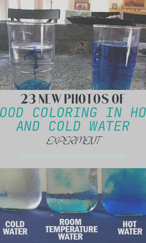 Food Coloring In Hot and Cold Water Experiment Awesome See How Cold and Hot Water Disperse A Drop Of Food