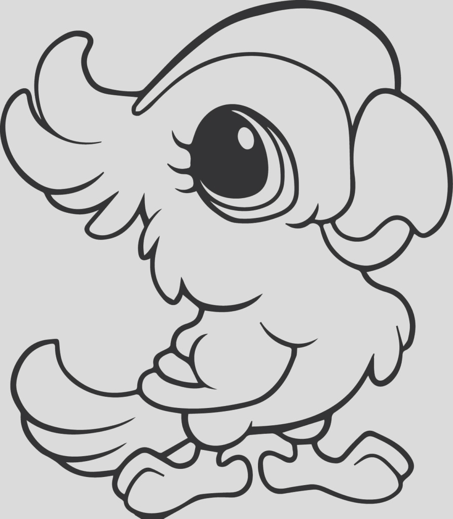 coloring pages of cute animals with big eyes