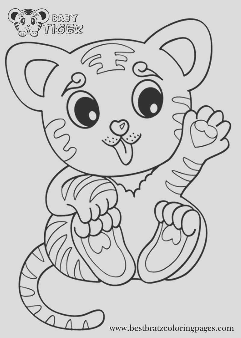 coloring pages tiger cubs