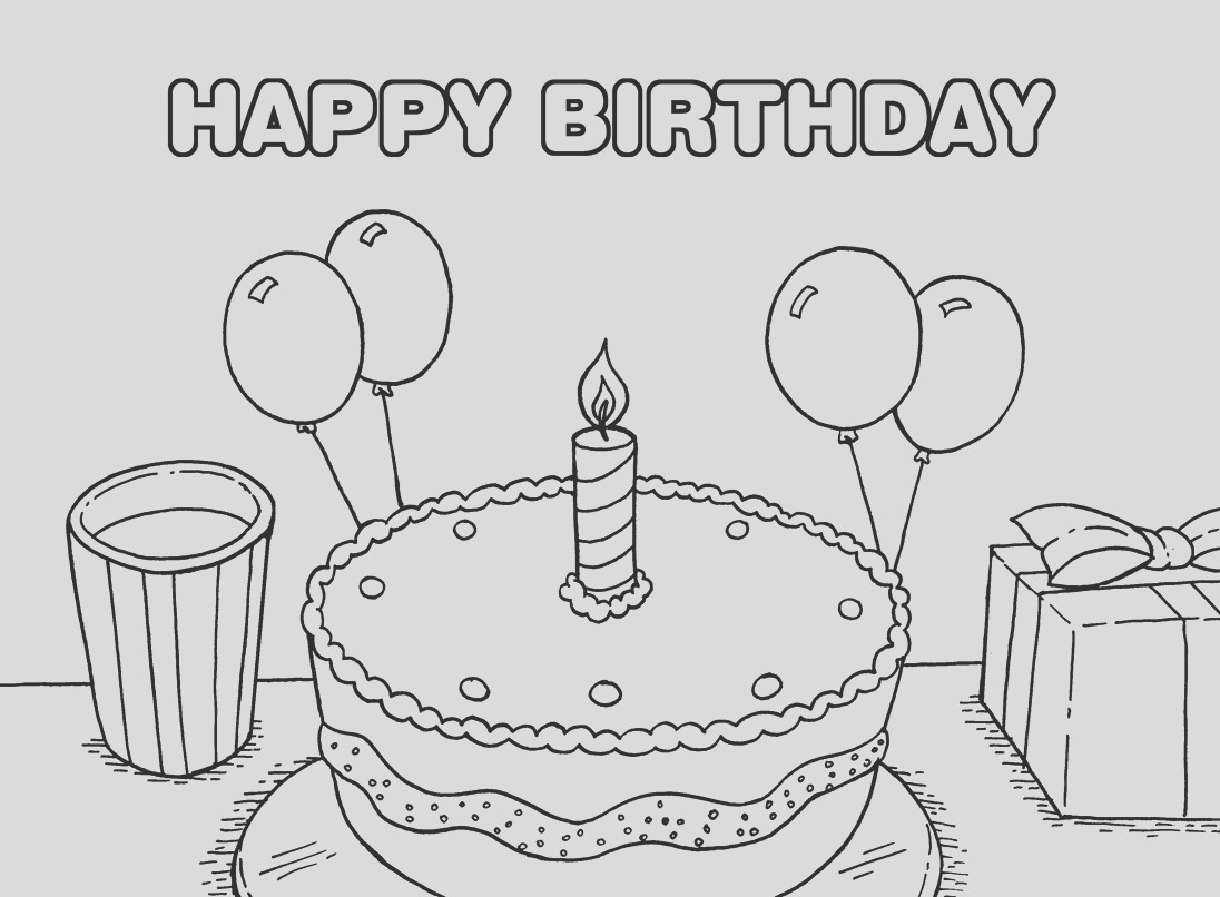 40 free printable happy birthday coloring pages