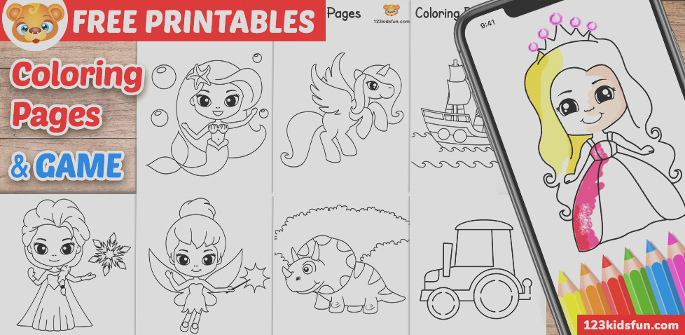 free printable coloring pages for kids and toddlers