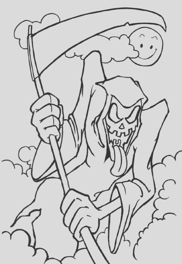free scary halloween coloring pages