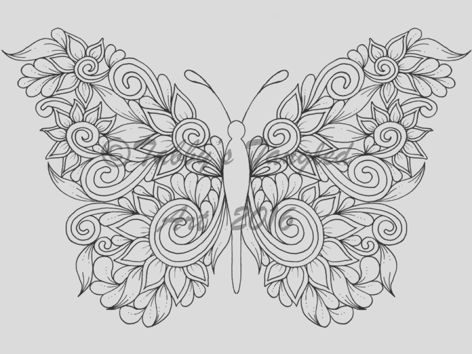 adult butterfly coloring pages to print