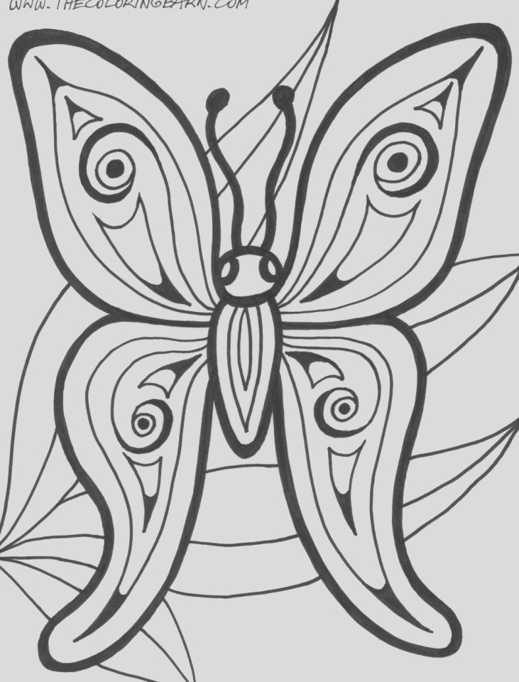 butterfly adult coloring books