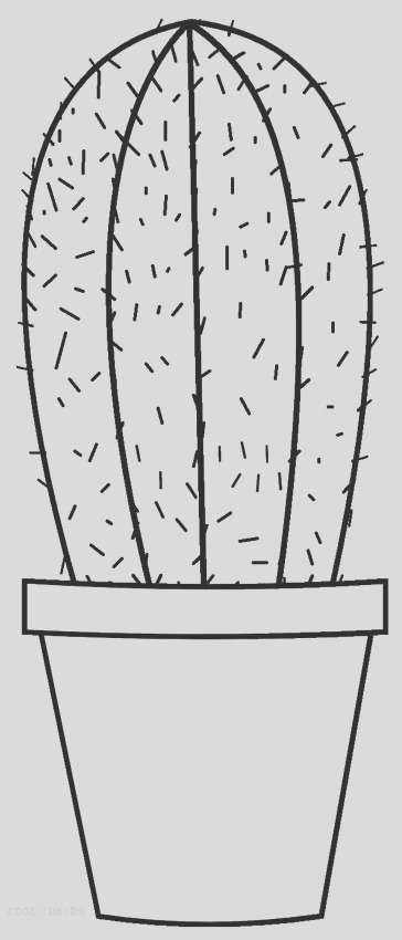 cactus coloring pages