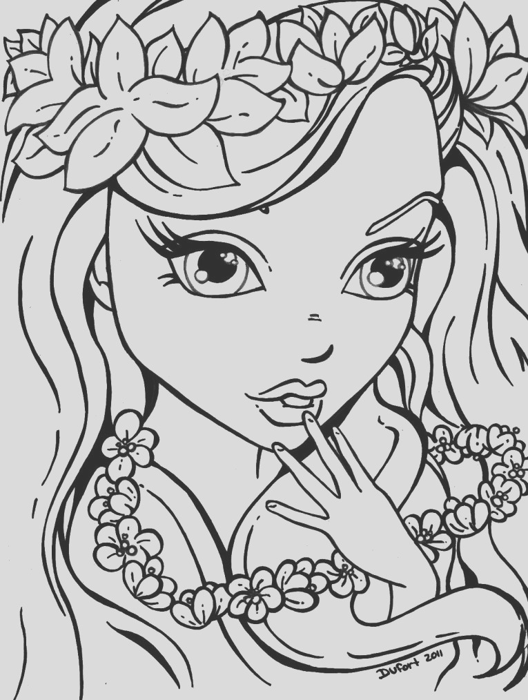 free coloring pages girls 7704