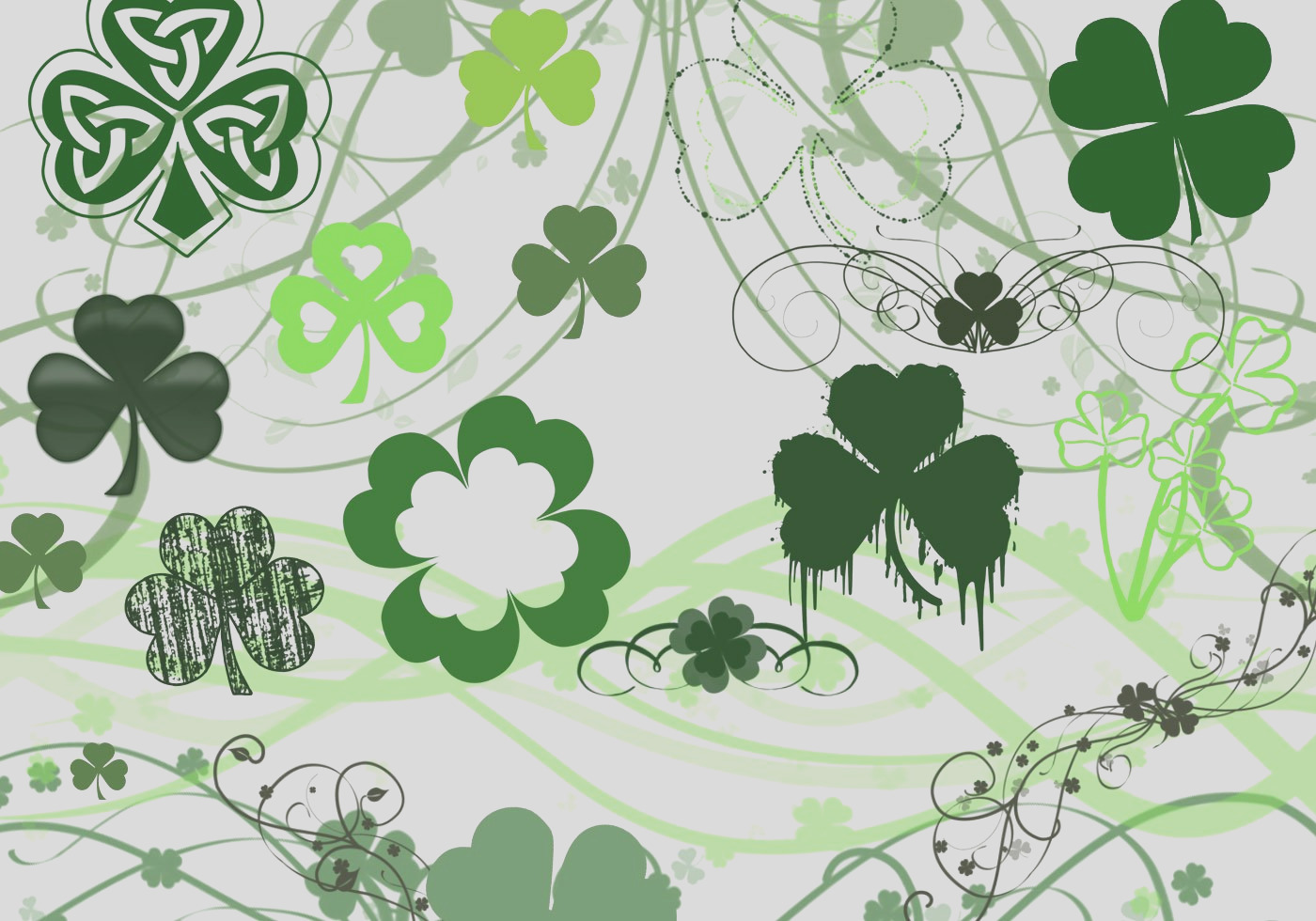 1376 st patrick s day brushes