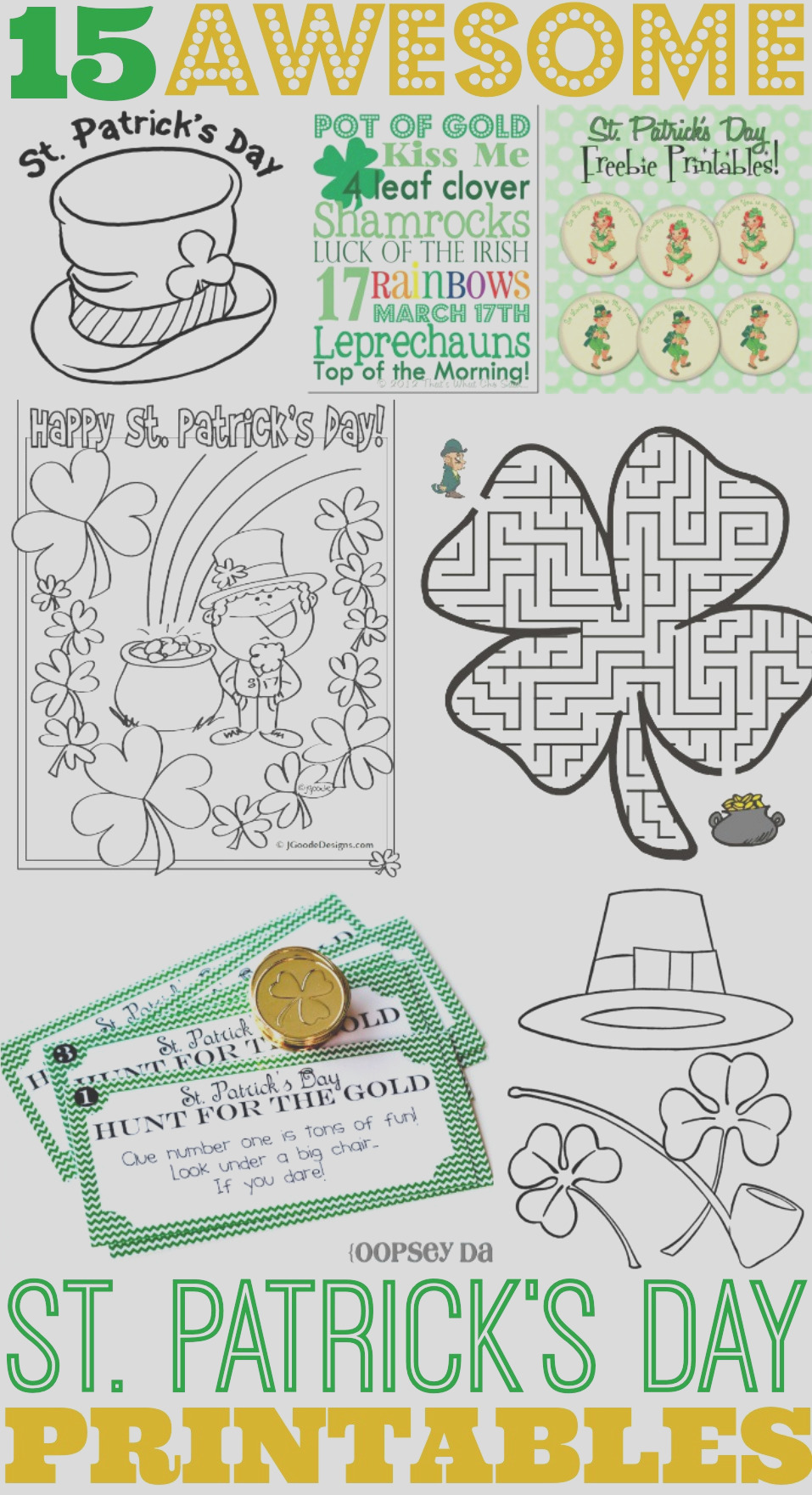 15 awesome st patricks day free printables for kids