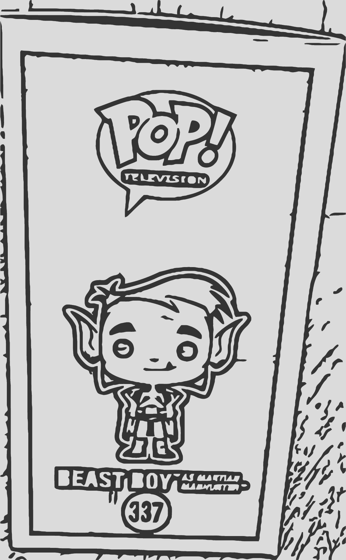 funko pop teen titans go beast boy cover coloring page