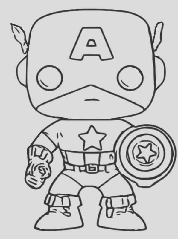 coloring pages funko pop print popular character figures